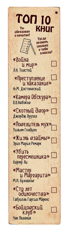 Закладка с резинкой. ТОП-10 книг