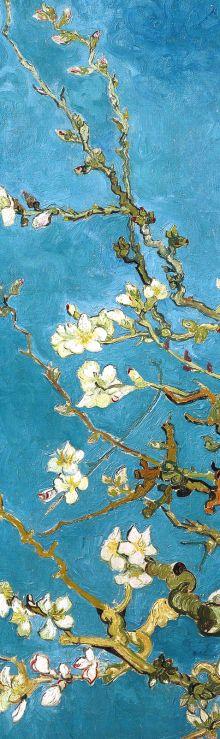 Обложка сзади Закладка с резинкой. Ван Гог. Цветущие ветки миндаля (Арте)
