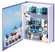 - Декор. Набор для создания миниатюры Кафе в Санторини (002-B) обложка книги