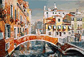 Живопись на холсте 40*50 см. Венеция. Кампьелло Кверини Стампалья (124-AB)