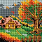- Мозаичные картины. Осенний домик (125-ST-РS) обложка книги