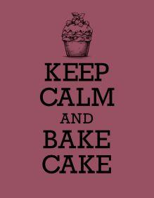 Книга для записи рецептов. KEEP CALM and BAKE CAKE