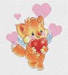 - Наборы для вышивания. Котёнок с сердечком (149-14) обложка книги