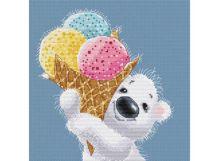 - Наборы для вышивания. Медвежонок с мороженым (162-14) обложка книги