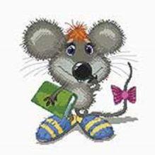 - Наборы для вышивания. Учёный мышонок (163-14) обложка книги