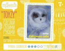- Набор TOYZY Северная сова - картина из шерсти, формат А4 обложка книги