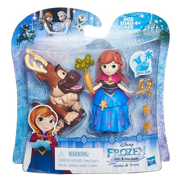 DISNEY FROZEN Игровой набор маленькие  куклы Холодное сердце  с дргуом в ассорт. (B5185)