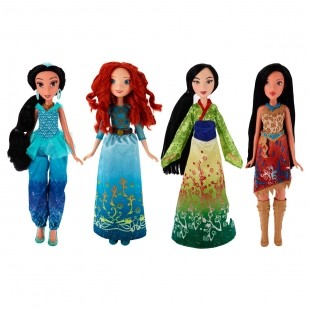 DISNEY PRINCESS Классическая модная кукла Принцесса. В ассортименте: Мулан, Жасмин, Мерида, Покахонтас (B6447)