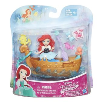 DISNEY PRINCESS Набор для игры в воде: маленькая кукла Принцесса и лодка в ассорт. (B5338EU4) DISNEY PRINCESS