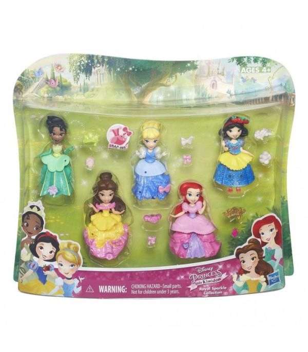 DISNEY PRINCESS Набор из 5ти маленьких кукол Принцесс (B5347) DISNEY PRINCESS