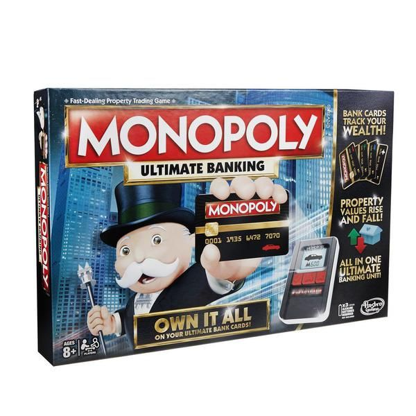 Монополия с банковскими картами (обновленная) (B6677) MONOPOLY
