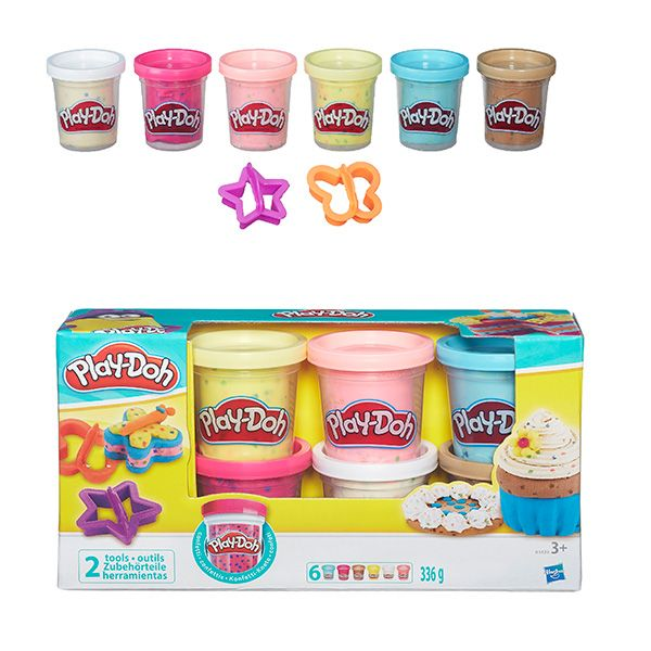 Play-Doh Пластилин: Набор из 6 баночек платилина с конфетти (B3423EU4)