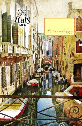 Блокнот. Узкие улочки в Венеции (А5)