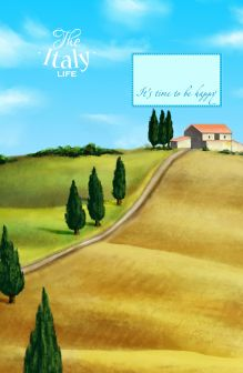 - Блокнот. Утро в Тоскане (А5) обложка книги