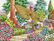 Мозаика на подрамнике. Дом в саду (080-ST-S)