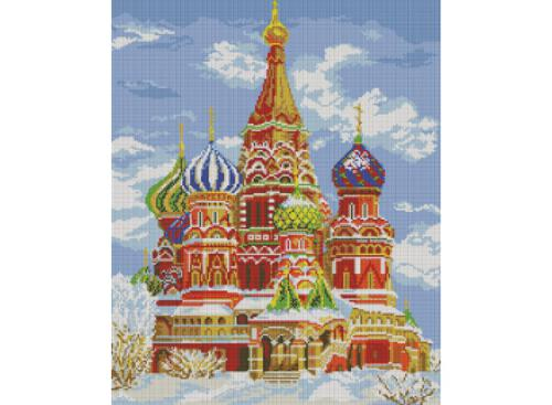 Мозаика на подрамнике. Храм Василия Блаженного (141-ST-S)