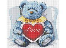 - Мозаика на подрамнике. Медвежонок с сердцем (251-ST-S) обложка книги