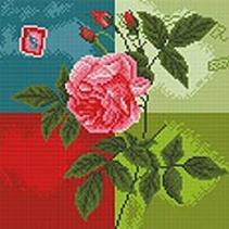 - Мозаика на подрамнике. Нежная роза (288-ST-S) обложка книги