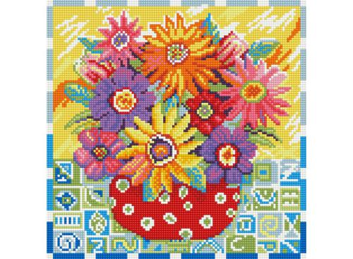 Мозаика на подрамнике. Цветики-цветочки (291-ST-S)