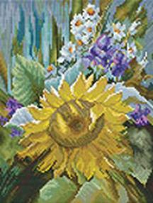 Наборы для вышивания 14ст,16ст. Подсолнух (6021-14)