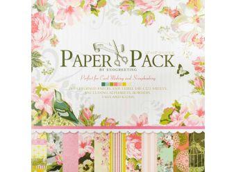 """Наборы для скрапбукинга. Набор бумаги """"Цветы и птицы"""" 30.5см*30.5см (014-SB)"""