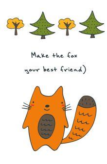 - Блокнот для записей Make the fox your best friend (А5) обложка книги