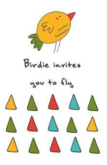 - Блокнот для записей Birdie invites you to fly (А5) обложка книги