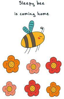 """Блокнот для записей """"Sleepy bee is coming home"""" (А5)"""