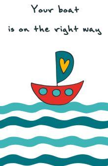 "Блокнот для записей ""Your boat is on the right way"" (А5)"