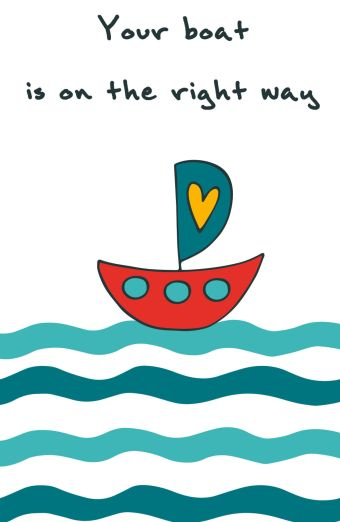 "Блокнот для записей ""Your boat is on the right way"" (А5)"
