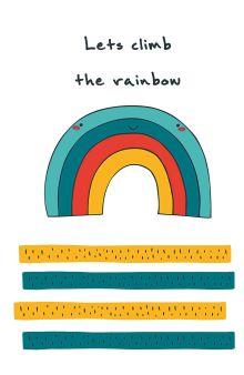 """Блокнот для записей """"Let's climb the rainbow"""" (А5)"""
