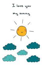 """Блокнот для записей """"I love you, my sunny"""" (А5)"""