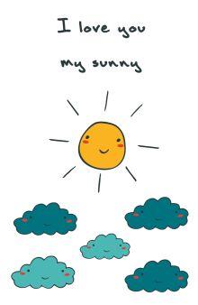 - Блокнот для записей I love you, my sunny (А5) обложка книги