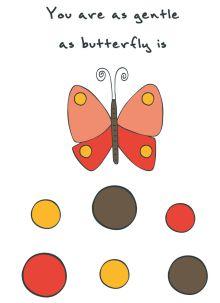 "Блокнот для записей ""You are as gentle as butterfly is"" (А6)"
