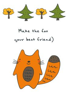 - Блокнот для записей Make the fox your best friend (А6) обложка книги