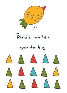 "Блокнот для записей ""Birdie invites you to fly"" (А6)"