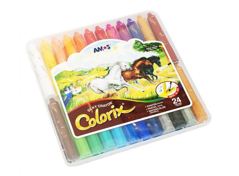 CRX5PC24 Цв.карандаши 3в1 24 цвета, d=12mm