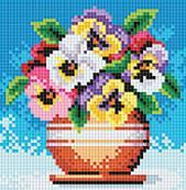 057-ST-PS Цветы в горшочке