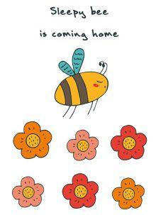 - Блокнот для записей Sleepy bee is coming home (А6) обложка книги