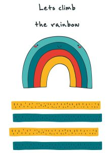 """Блокнот для записей """"Let's climb the rainbow"""" (А6)"""