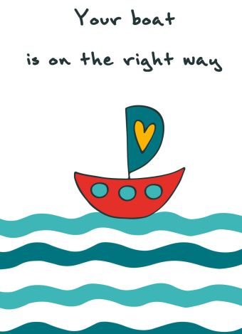 "Блокнот для записей ""Your boat is on the right way"" (А6)"