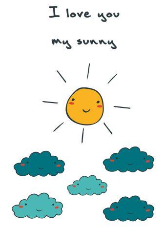"""Блокнот для записей """"I love you, my sunny"""" (А6)"""