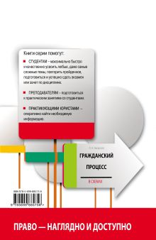 Обложка сзади Гражданский процесс в схемах с комментариями. 3-е издание. Исправленное и дополненное Л. Н. Завадская