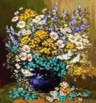 Живопись на холсте 40*50 см. Букет полевых цветов (039-АВ)