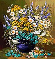 - Живопись на холсте 40*50 см. Букет полевых цветов (039-АВ) обложка книги