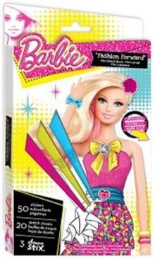 Fashion Angels - Мини-портфолио Барби с восковыми мелками обложка книги