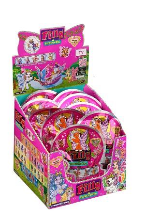 Лошадка коллекционная Filly Бабочки с блестками Dracco