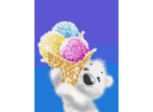 - Живопись на холсте 30*40 см. Медвежонок с мороженым (044-AS) обложка книги
