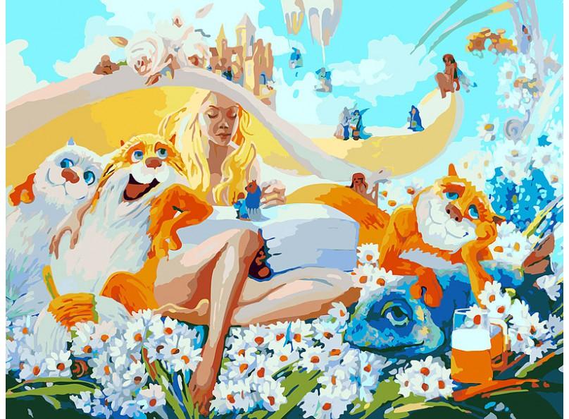Живопись на холсте 30*40 см. Блондинка (078-AS)