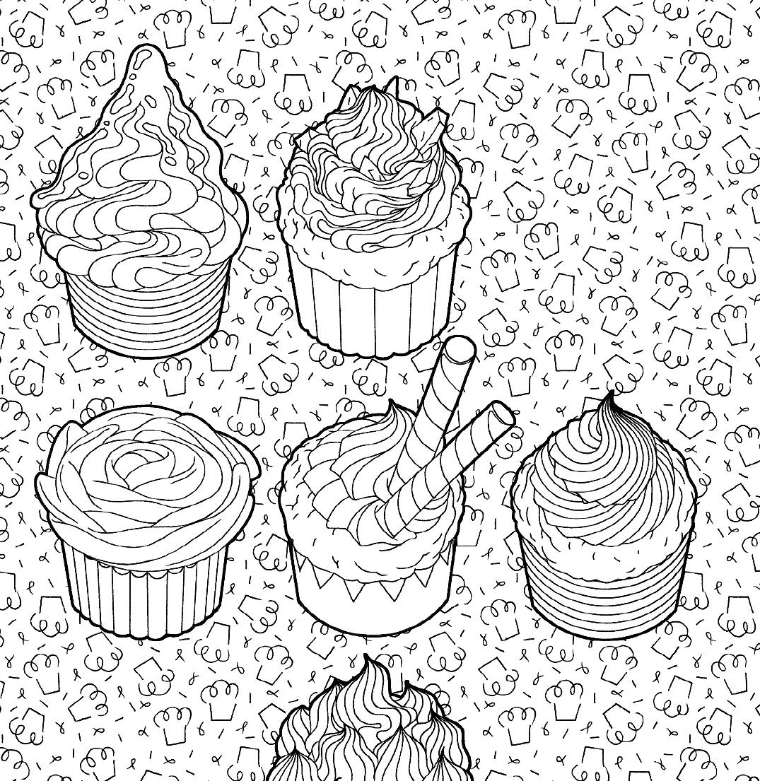 сладости летняя серия раскраска антистресс для творчества